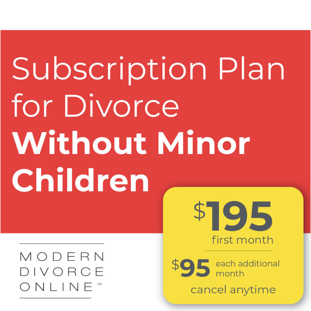 MDO Subscription for Divorce Without Minor Children